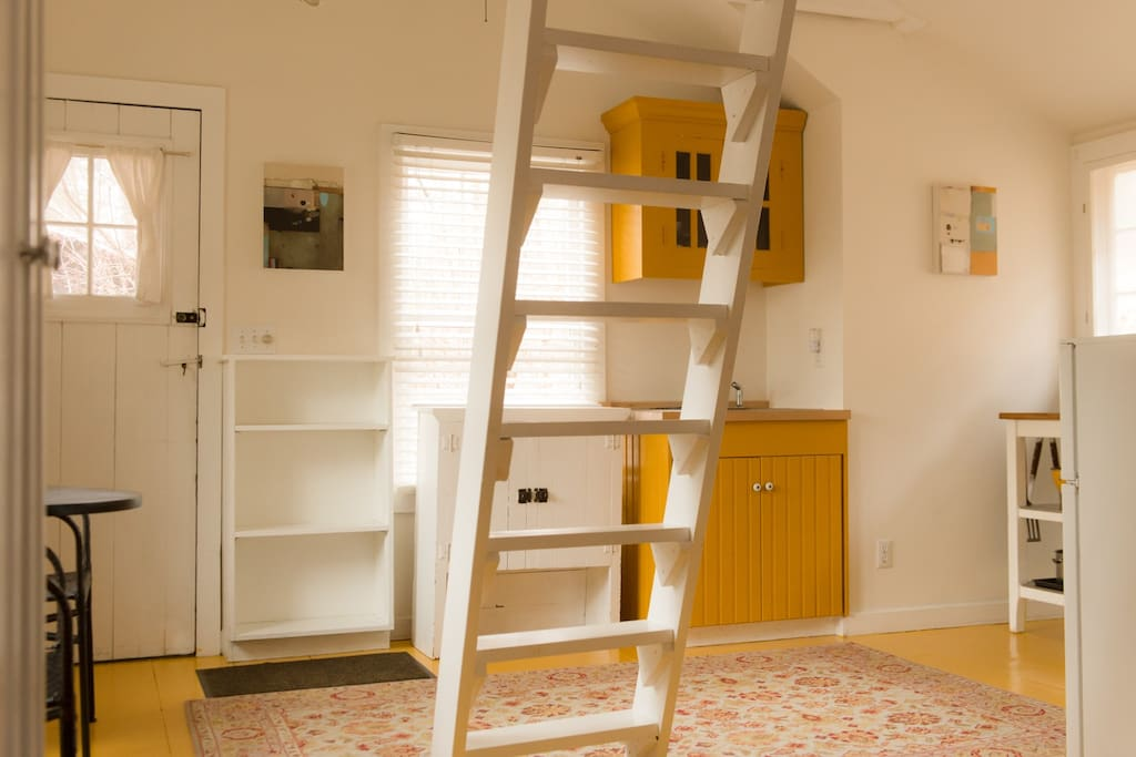 Ladder to the loft