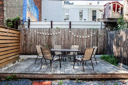 This HUGE 2 story house is a true Brooklyn experience that will knock your socks off!  We are located in vibrant Bushwick right down the block from the JMZ trains giving you easy access to Manhattan, Williamsburg and JFK airport.  Come on out :)