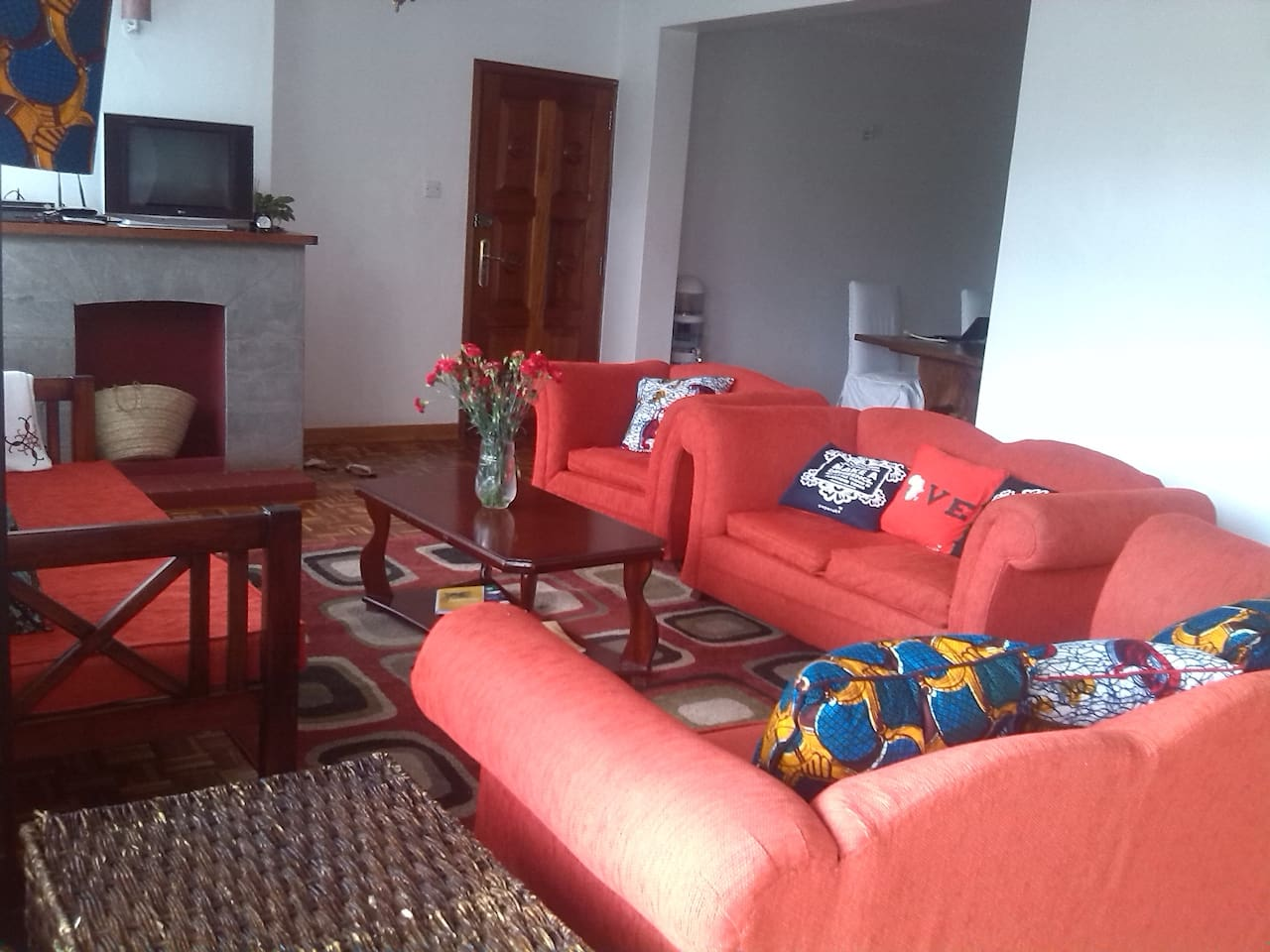 This is our bright and colourful chill living area