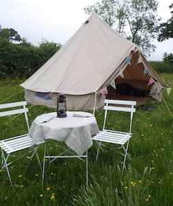 Buttercup Bell Tent, Leafy Fields Glamping - Tent
