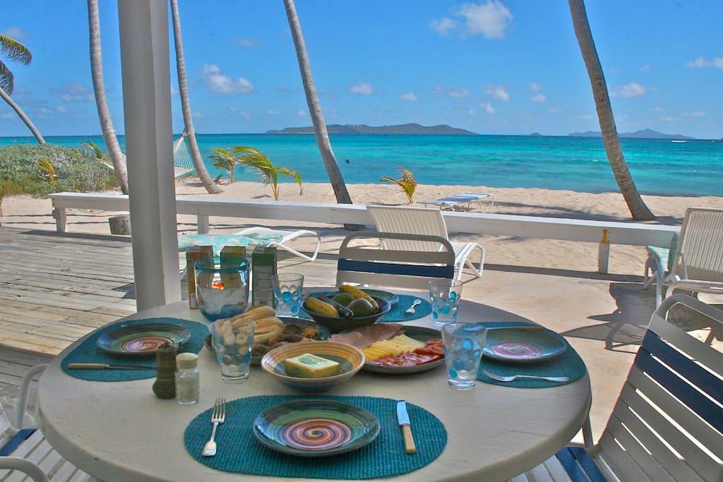 breakfast on the beach anyone?