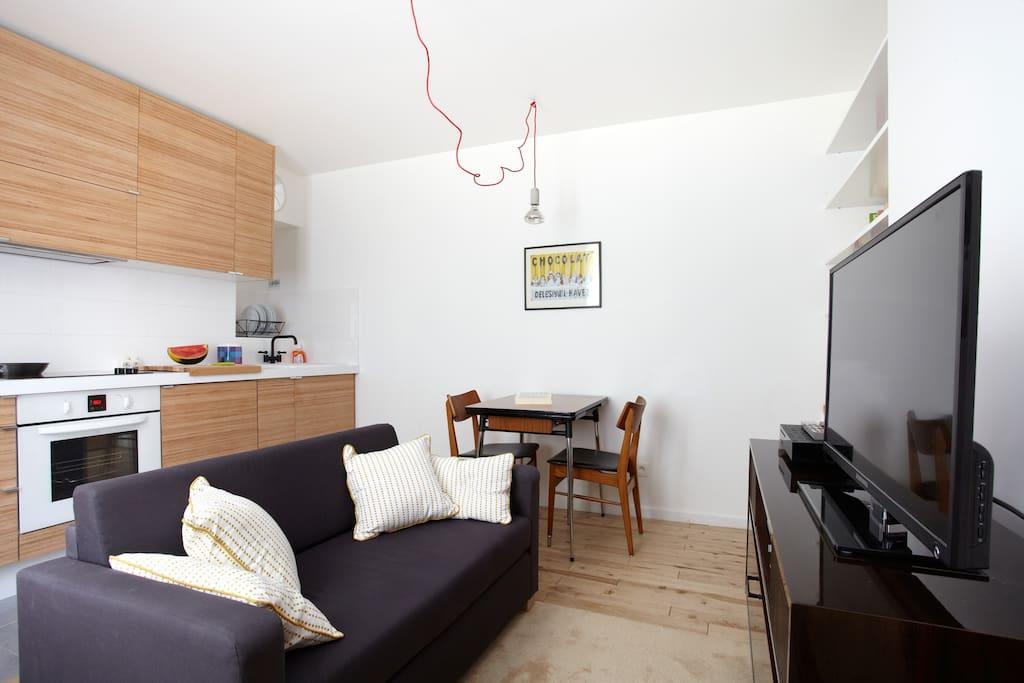Paris Canal de L'Ourcq Design flat