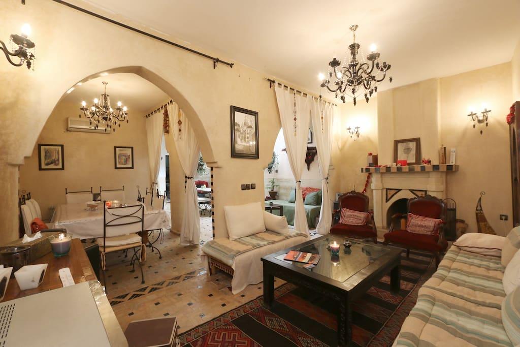 Riad Diva triple room