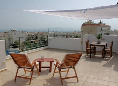 Sea View Penthouse Studio with Private Terrace - Apartment
