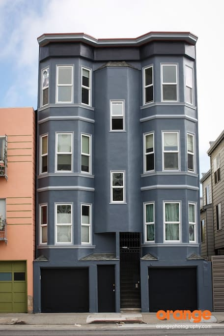 view from the street (Oct 2015 - new paint job)