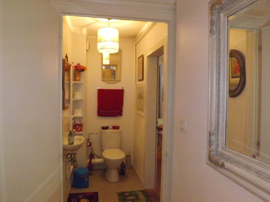 Private wc/washing room