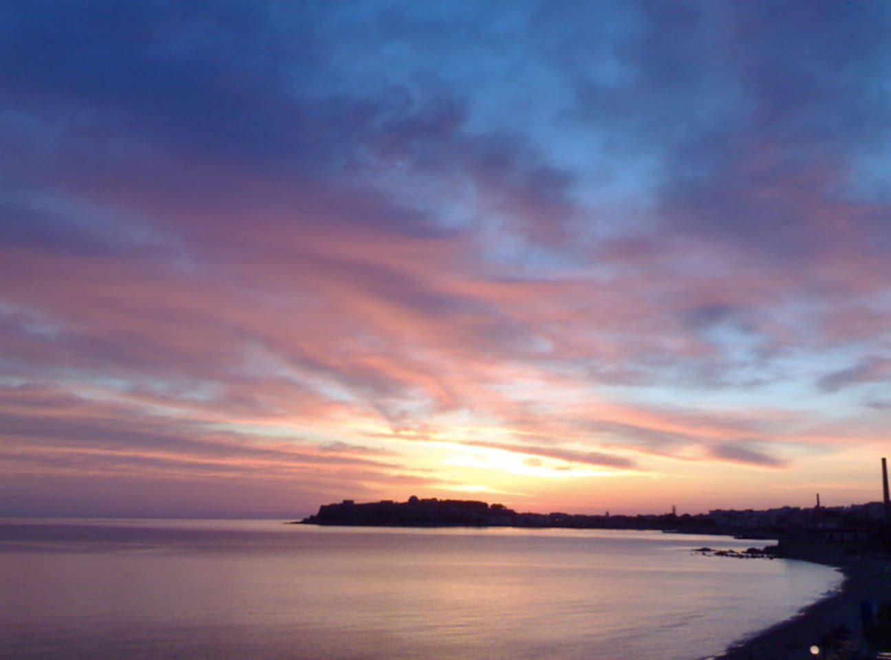 A breathtaking sunrise... something like 6:30am on a summer morning.