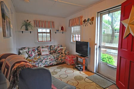 Welcome to Sand Pebble Cottage!  This small cozy cottage is 1/2 mi from the ocean beach and 1/2 mi from the village of Dennisport. Near restaurants & Sundae School Ice-Cream Parlor.  At the end of a cul-de-sac this cottage has everything you need.