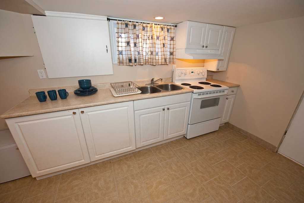 Newly renovated and painted kitchen