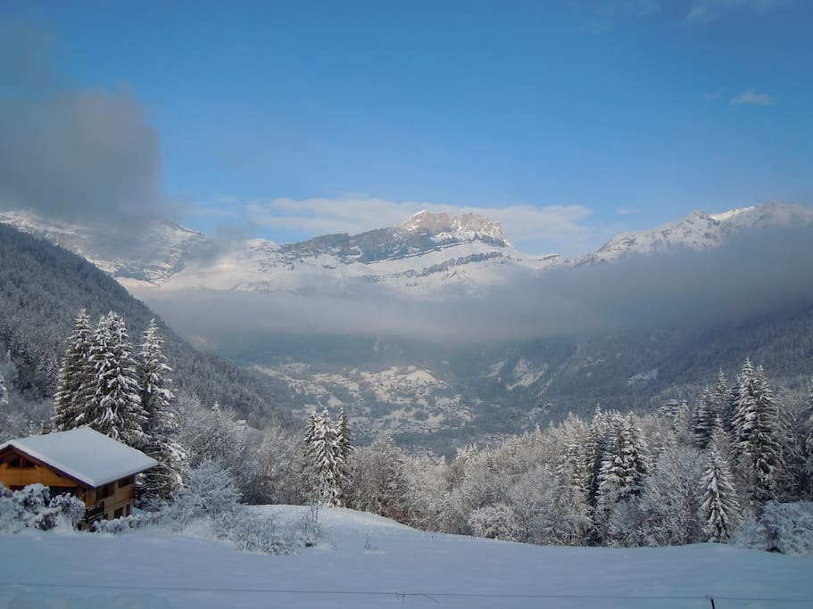 Winter view from Chalet Narnia