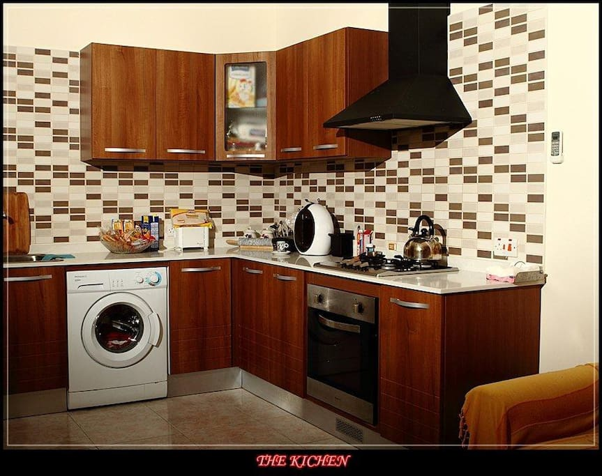 Kitchen- With Coffee machine, Stove & Oven for the Guests to use