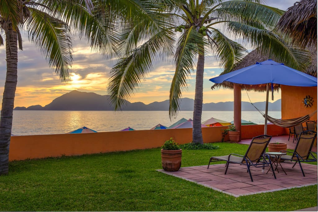 Typical evening view of Santiago Bay - the most scenic in the Manzanillo area.