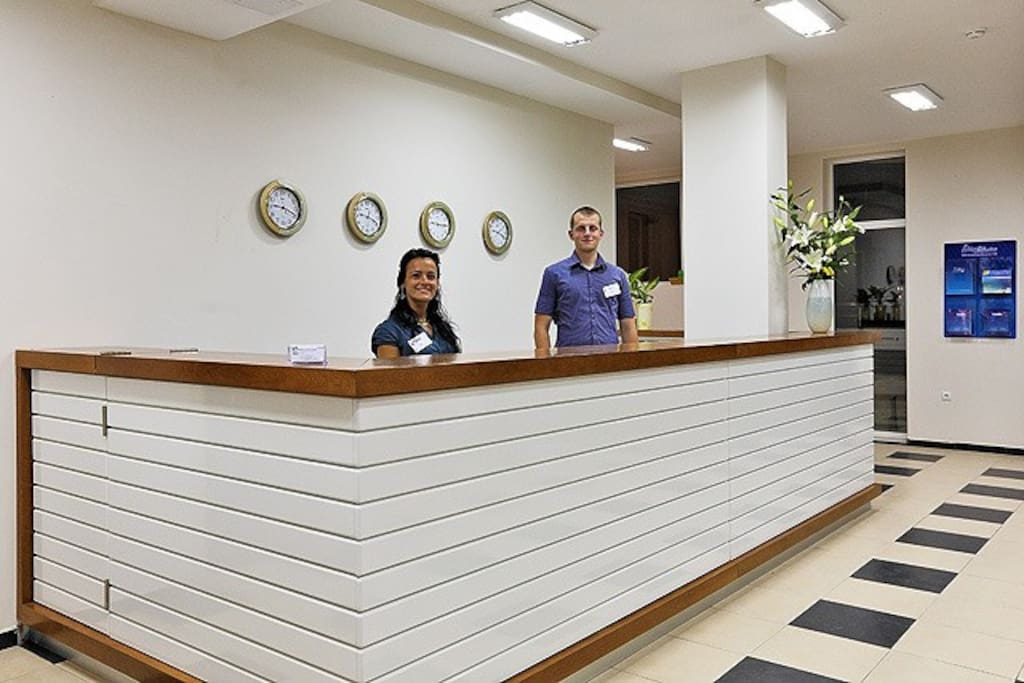 When you arrive friendly staff will greet you at reception and will show you apartment and hotel facilities
