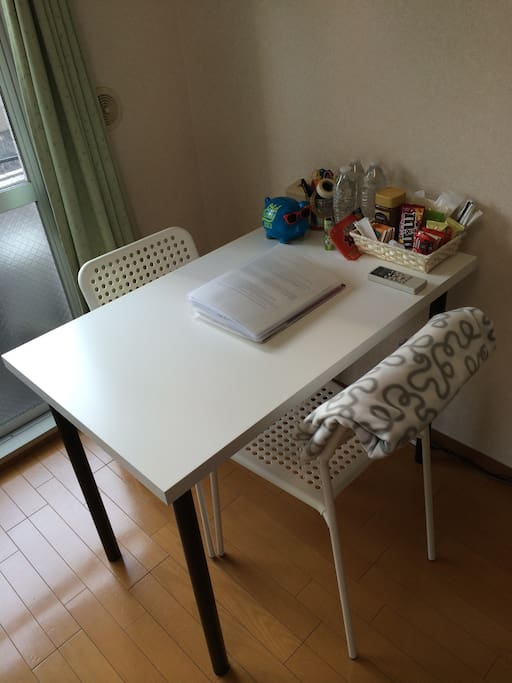 1.Desk and welcome kit