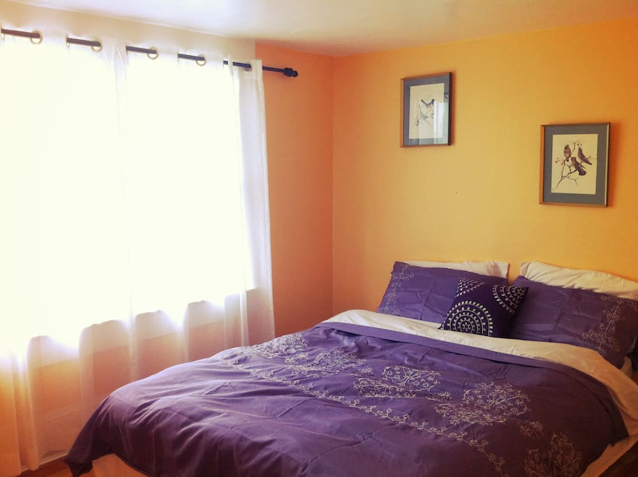 The Master Bedroom - Sunset Colored Walls