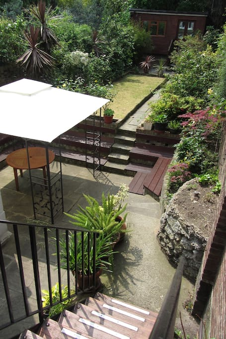 charming garden with decking area