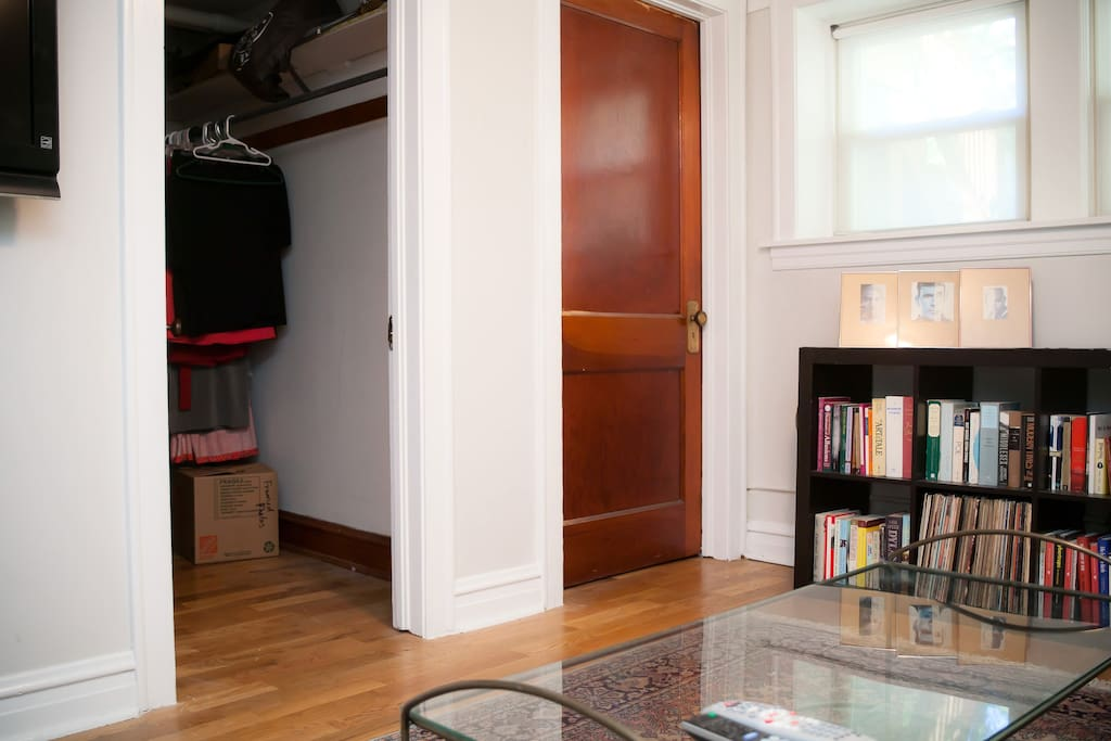 Private entrance and lots of closet space