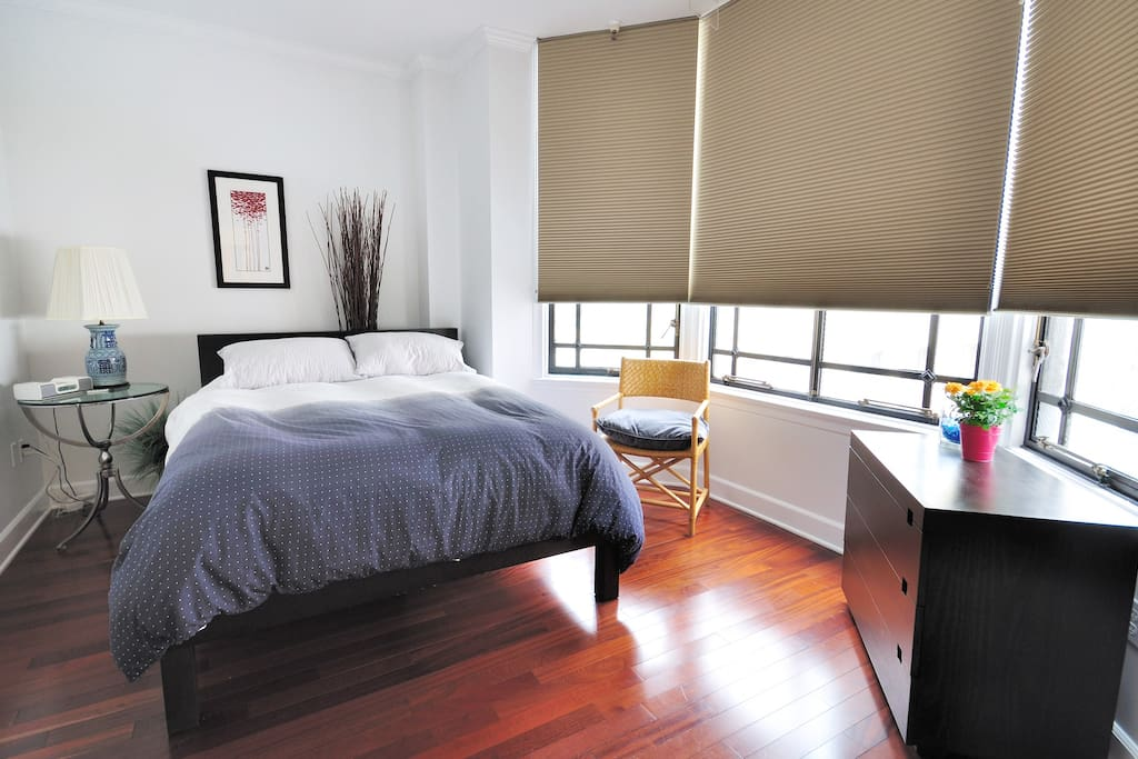 Plush bed and linens