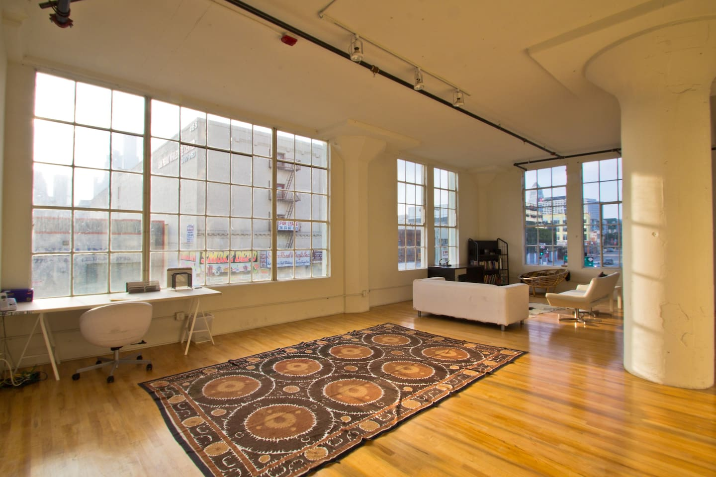 Open Light Space with Downtown Views