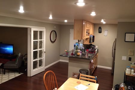 Newly renovated condo in Daly City. Shuttle service to bart station during commuter's hours. Otherwise, bus to Bart station is right outside of the complex. Free street parking or visitors parking. Friendly hosts!
