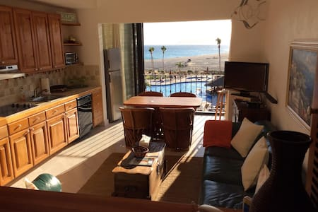 Wake up in the morning and see the sea of Cortez from the bedroom and living room. The ocean views are spectacular from this vantage point and the sunsets are stunning.