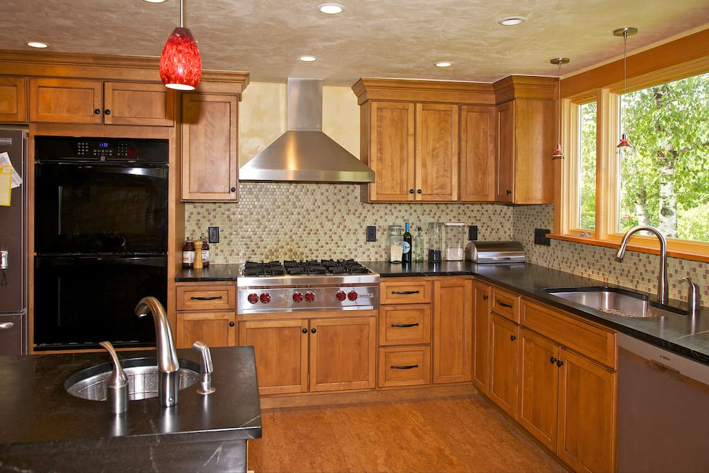 Bright kitchen with all-new appliances.