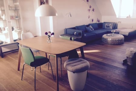 Private room in central penthouse - København - Apartment