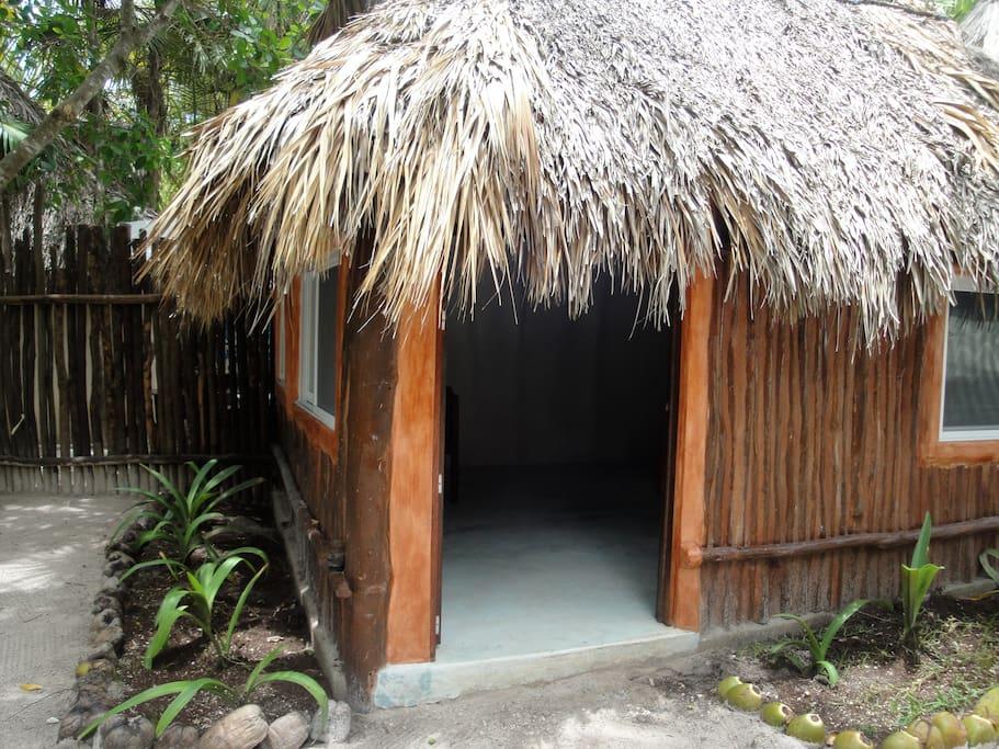 Exterior with garden area