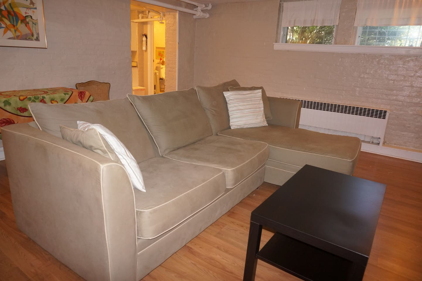 spacious 1 bedroom apartment with private entrance south orange airbnb cool office design train tracks