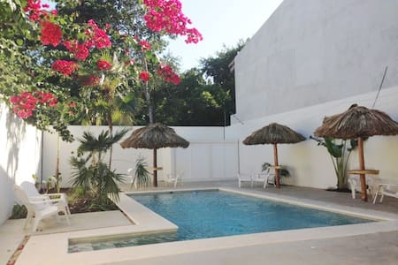 WOW; This beautiful one bedroom apartment sleeps 3 persons, This is one of the nicest luxury apartments we manage. It is located in the quiet área of Tulum and is very safe and we have great wifi , as there is not very good wifi service in Tulum,