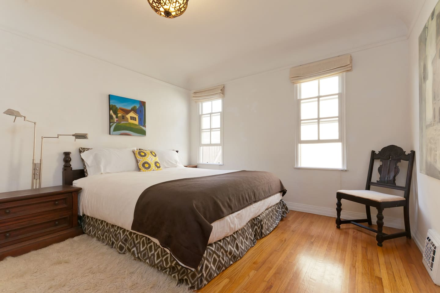 California room featuring all California based artists and a California king bed