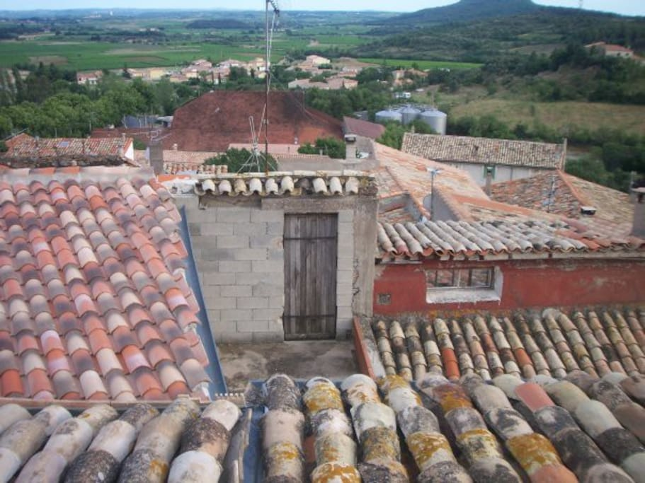 The village roof tops