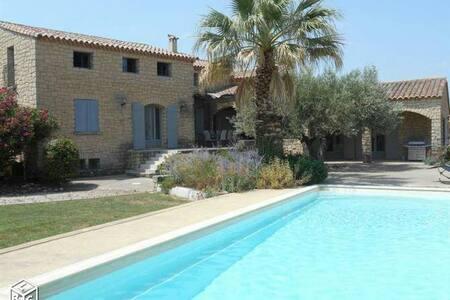 Mas provençal au calme avec piscine - Caumont-sur-Durance