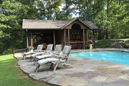 NEW Spacious Pool Cabana on Private Wooded Pond - Guesthouse