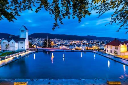 Nice apartm. in Bergen close to Bryggen and Fløyen - Apartemen