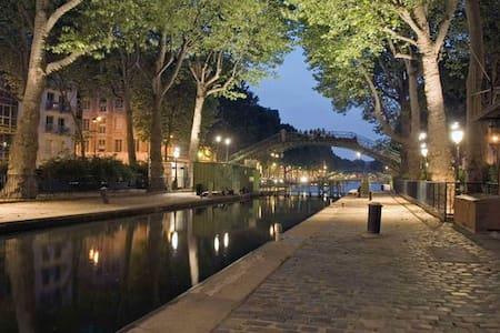 Charming Flat Canal Saint Martin