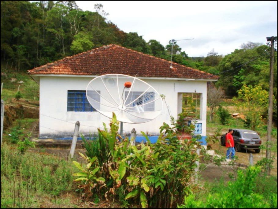 Vista da frente da casa
