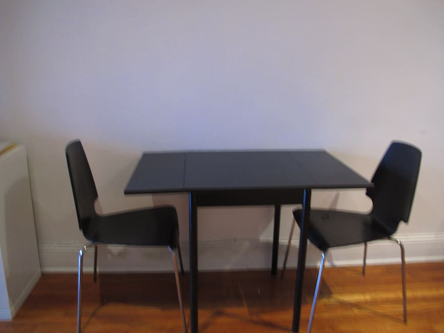 Dining table and chairs for your eating pleasure.