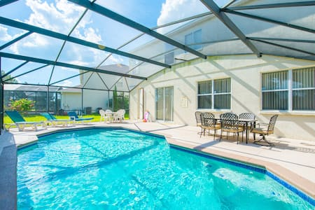 House with pool near all Orlando theme parks - Kissimmee - Huis
