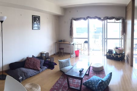 Big bright apartment near subway - Fukuoka - Wohnung