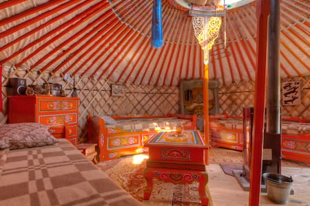 Mongolian yurt at the dyke of Elbe - Yurt