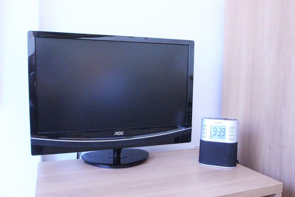 Basic LCD TV and radio.