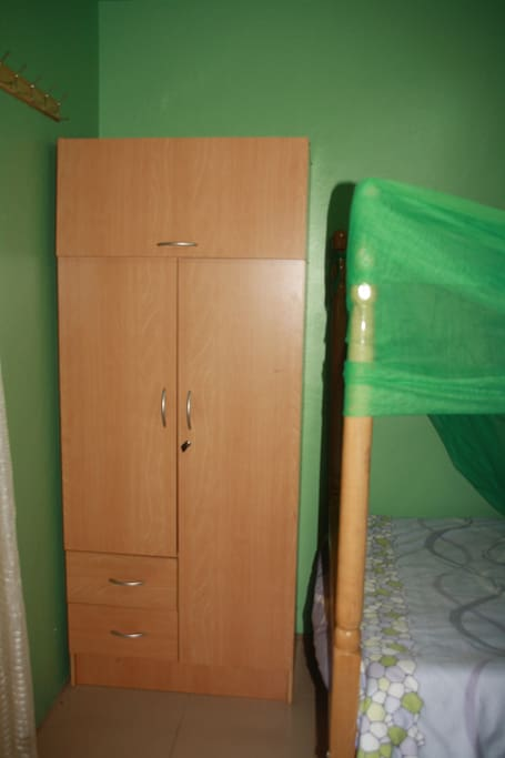 elephant room-double sized bed suitable for 2 persons,wardrobe.