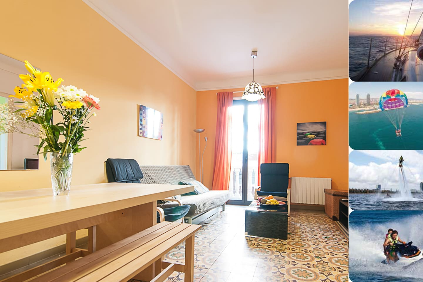 A charming three bedroom apartment with stunning activities