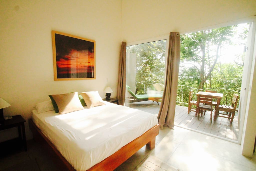 The spacious and light Master Bedroom has a large balcony