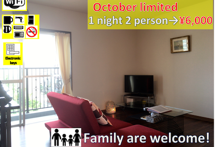 Himeji Castle MAX6people speedwifi freeparking - Apartment