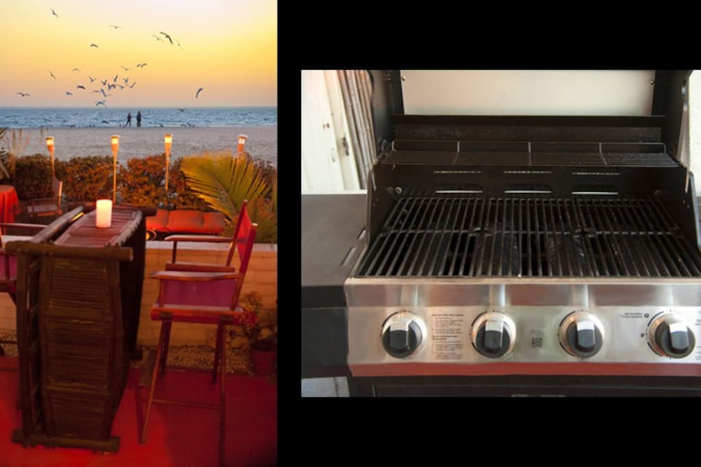 Feel free to use the gas BBQ for a sunset dinner on the beach patio. Just heaven......