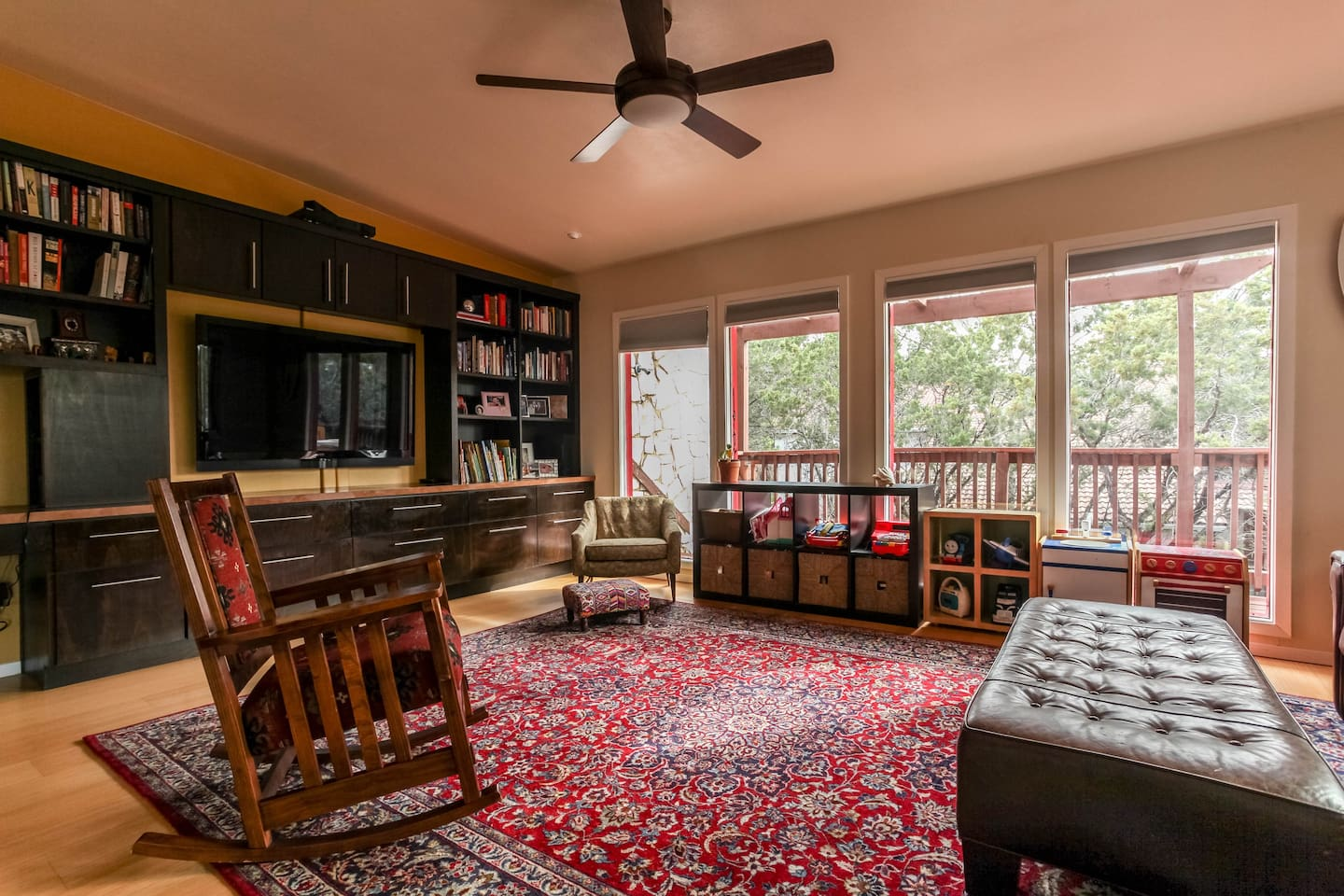 """Spacious Living Area #1 with 52"""" flat screen tv."""