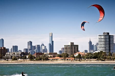 LIFE'S A BEACH And this is the perfect beach apartment to relax, shop, dine explore and get to Melbourne city in 12 minutes.  If availability does not suit your travel dates, see my very similar apartment  https://www.airbnb.com.au/rooms/5492346