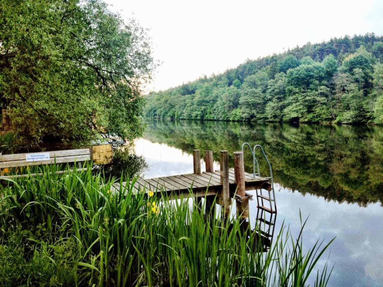 20 steps from apt to a mornig swim